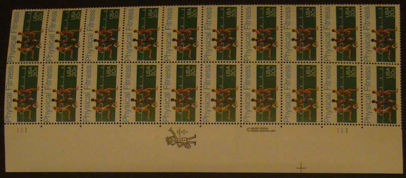 "Scott 2043 Plate Block (20 cents X 20) <p> <a href=""/images/USA-Scott-2043-PB-20.jpg""><font color=green><b>View the image</a></b></font>"