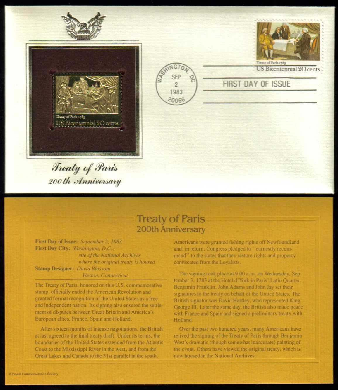 "Scott 2052 Golden Replica (22Kt) unaddressed FDC <p> <a href=""/images/USA-Scott-2052-Gold.jpg""><font color=green><b>View the image</a></b></font>"