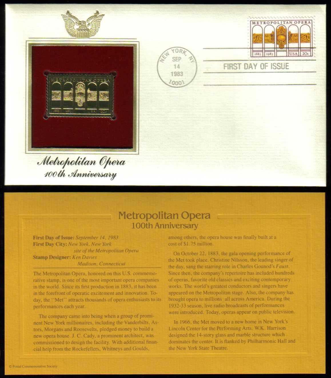 "Scott 2054 Golden Replica (22Kt) unaddressed FDC <p> <a href=""/images/USA-Scott-2054-Gold.jpg""><font color=green><b>View the image</a></b></font>"