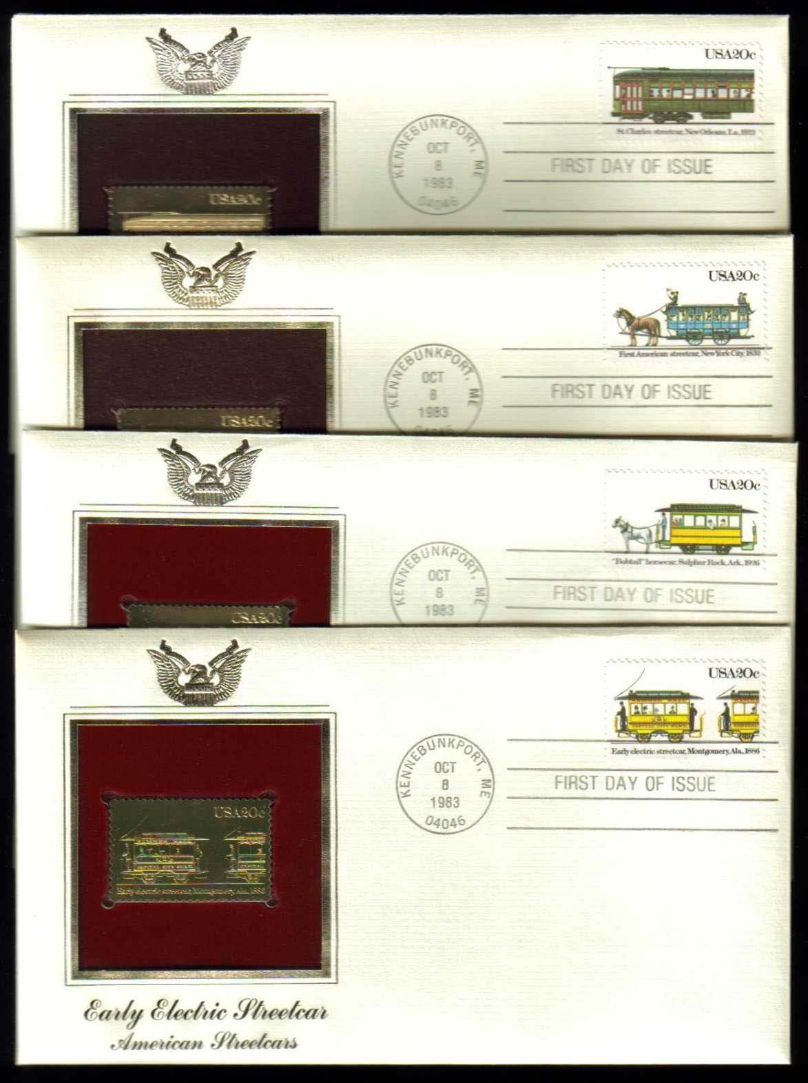 "Scott 2059-2062 Golden Replica (22Kt) unaddressed FDC, set of 4 <p> <a href=""/images/USA-Scott-2059-2062-Gold.jpg""><font color=green><b>View the image</a></b></font>"