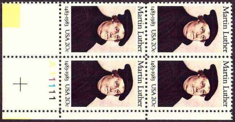 "Scott 2065 Plate Block (20 cents) <p> <a href=""/images/USA-Scott-2065-PB.jpg""><font color=green><b>View the image</a></b></font>"