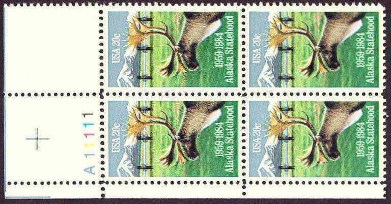 "Scott 2066 Plate Block (20 cents) <p> <a href=""/images/USA-Scott-2066-PB.jpg""><font color=green><b>View the image</a></b></font>"