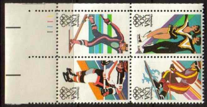 "Scott 2067-2070 Plate Block (20 cents) <p> <a href=""/images/USA-Scott-2067-2070-PB.jpg""><font color=green><b>View the image</a></b></font>"