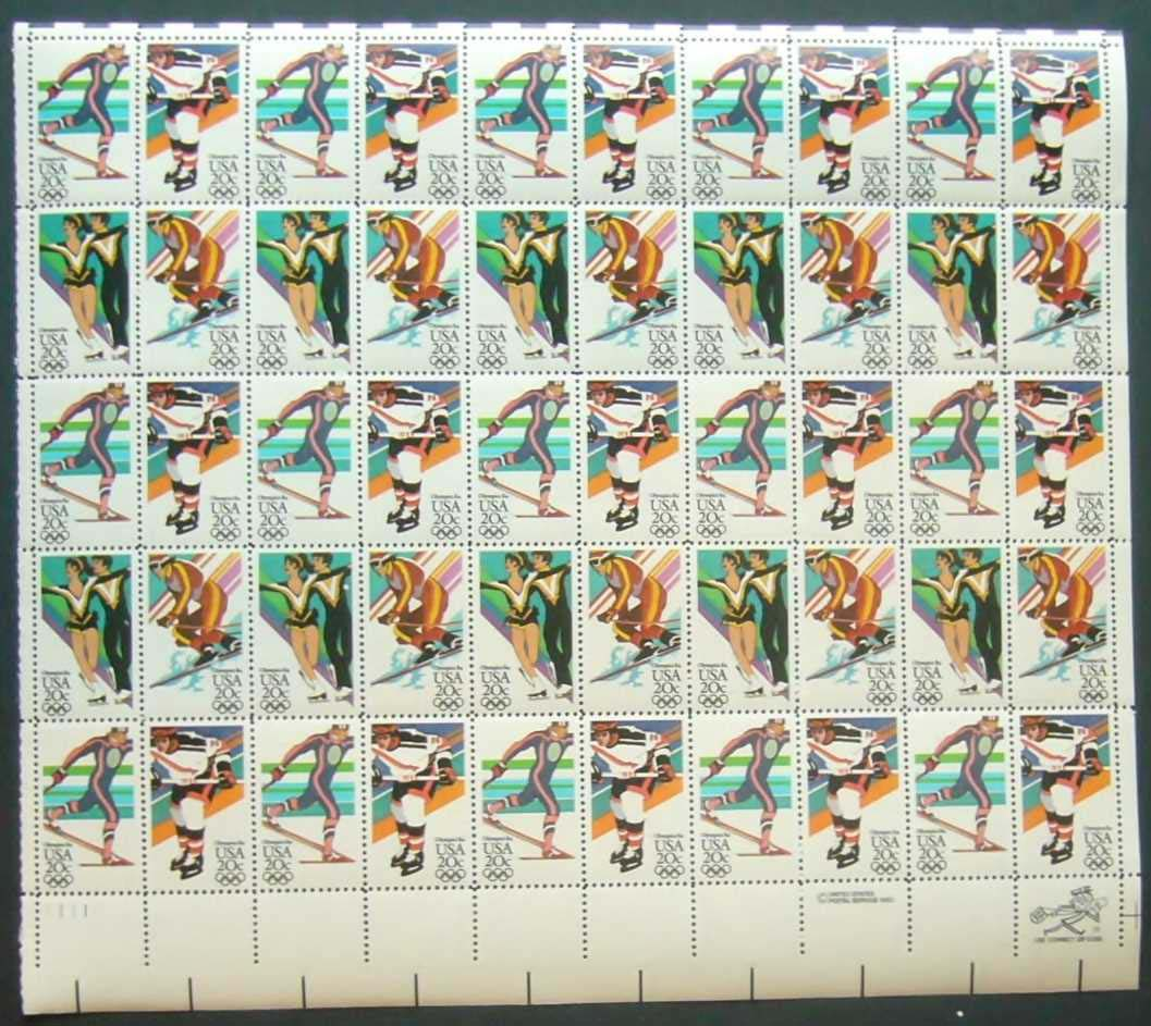 "Scott 2067-2070 Sheet (20 cents) <p> <a href=""/images/USA-Scott-2067-2070-Sheet.jpg""><font color=green><b>View the image</a></b> </font>"