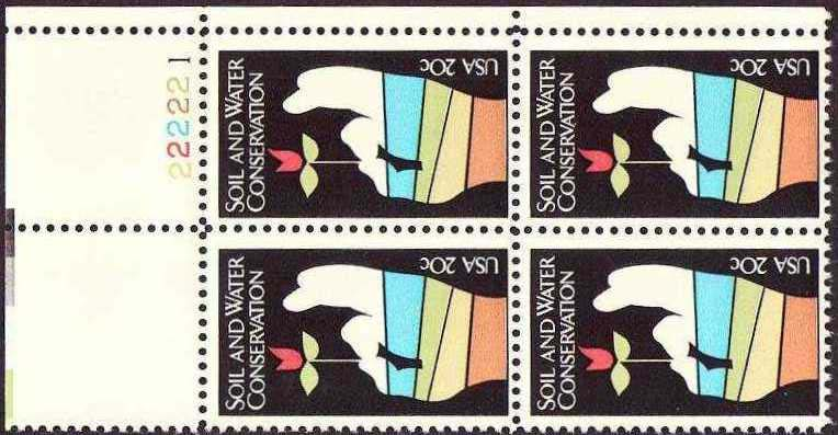 "Scott 2074 Plate Block (20 cents) <p> <a href=""/images/USA-Scott-2074-PB.jpg""><font color=green><b>View the image</a></b></font>"