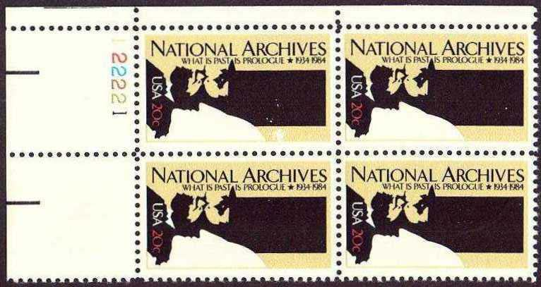 "Scott 2081 Plate Block (20 cents) <p> <a href=""/images/USA-Scott-2081-PB.jpg""><font color=green><b>View the image</a></b></font>"