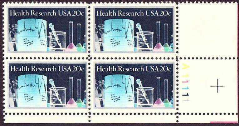 Scott 2087 Plate Block (20 cents) <p> <a href=&quot;/images/USA-Scott-2087-PB.jpg&quot;><font color=green><b>View the image</a></b></font>