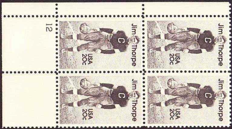 "Scott 2089 Plate Block (20 cents) <p> <a href=""/images/USA-Scott-2089-PB.jpg""><font color=green><b>View the image</a></b></font>"