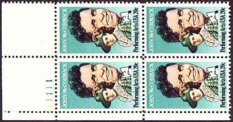 "Scott 2090 Plate Block (20 cents) <p> <a href=""/images/USA-Scott-2090-PB.jpg""><font color=green><b>View the image</a></b></font>"