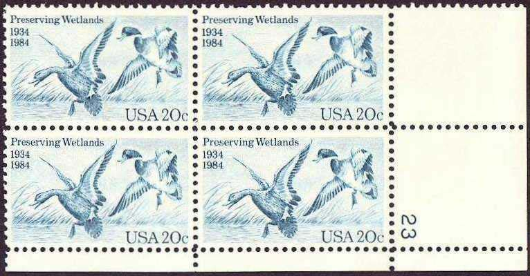"Scott 2092 Plate Block (20 cents) <p> <a href=""/images/USA-Scott-2092-PB.jpg""><font color=green><b>View the image</a></b></font>"