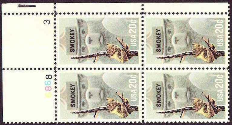 "Scott 2096 Plate Block (20 cents) <p> <a href=""/images/USA-Scott-2096-PB.jpg""><font color=green><b>View the image</a></b></font>"
