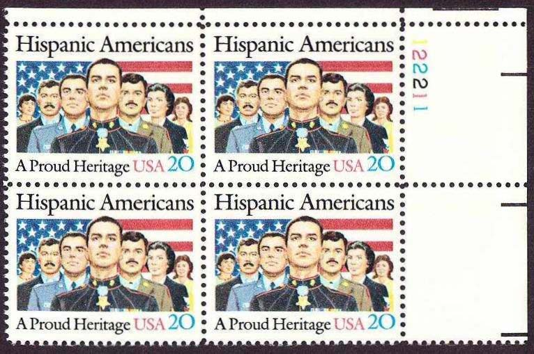 "Scott 2103 Plate Block (20 cents) <p> <a href=""/images/USA-Scott-2103-PB.jpg""><font color=green><b>View the image</a></b></font>"
