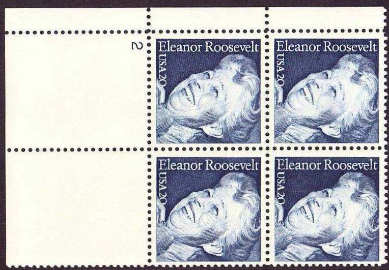"Scott 2105 Plate Block (20 cents) <p> <a href=""/images/USA-Scott-2105-PB.jpg""><font color=green><b>View the image</a></b></font>"