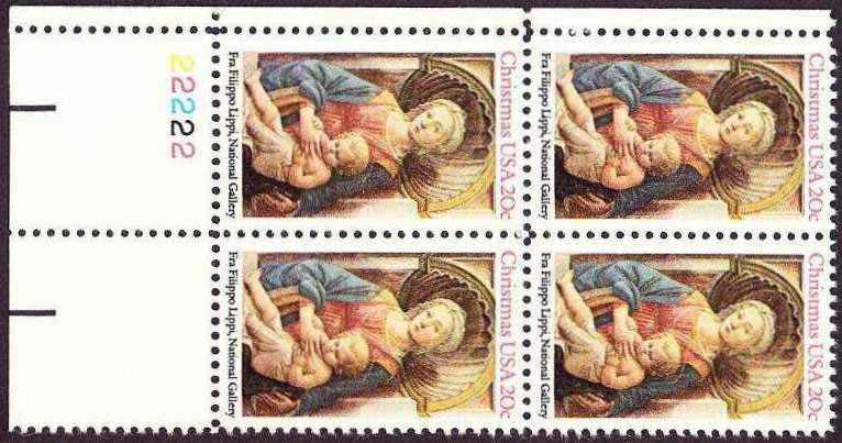 "Scott 2107 Plate Block (20 cents) <p> <a href=""/images/USA-Scott-2107-PB.jpg""><font color=green><b>View the image</a></b></font>"