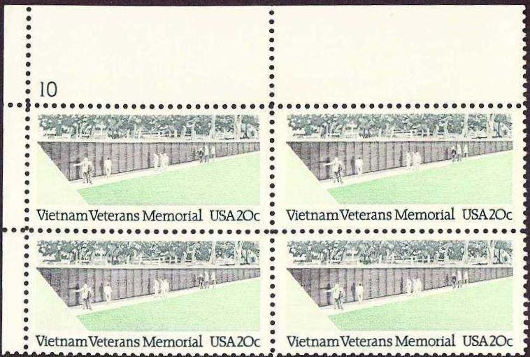 "Scott 2109 Plate Block (20 cents) <p> <a href=""/images/USA-Scott-2109-PB.jpg""><font color=green><b>View the image</a></b></font>"