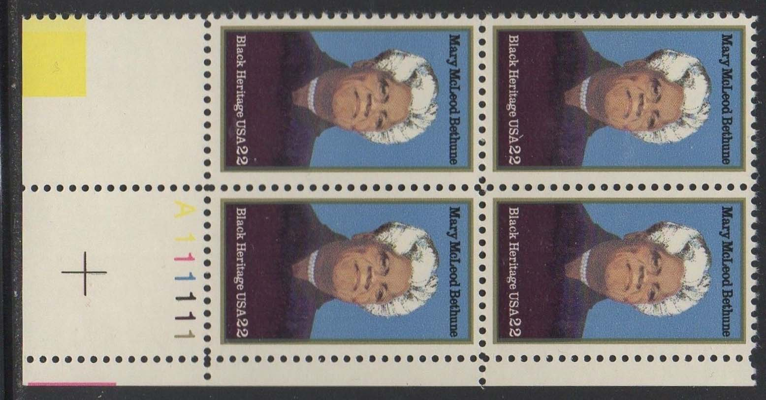 "Scott 2137 Plate Block (22 cents) <p> <a href=""/images/USA-Scott-2137-PB.jpg""><font color=green><b>View the image</a></b></font>"