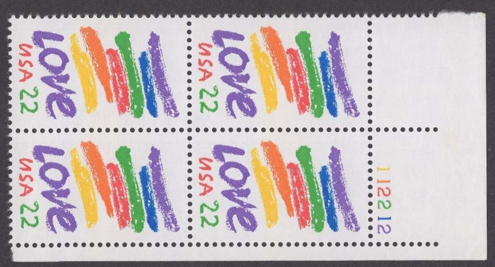 "Scott 2143 Plate Block (22 cents) <p> <a href=""/images/USA-Scott-2143-PB.jpg""><font color=green><b>View the image</a></b></font>"