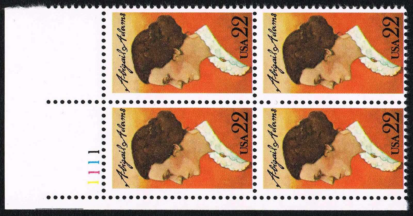 "Scott 2146 Plate Block (22 cents) <p> <a href=""/images/USA-Scott-2146-PB.jpg""><font color=green><b>View the image</a></b></font>"