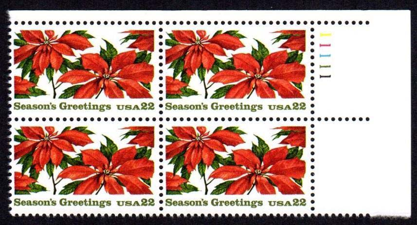 "Scott 2166 Plate Block (22 cents) <p> <a href=""/images/USA-Scott-2166-PB.jpg""><font color=green><b>View the image</a></b></font>"