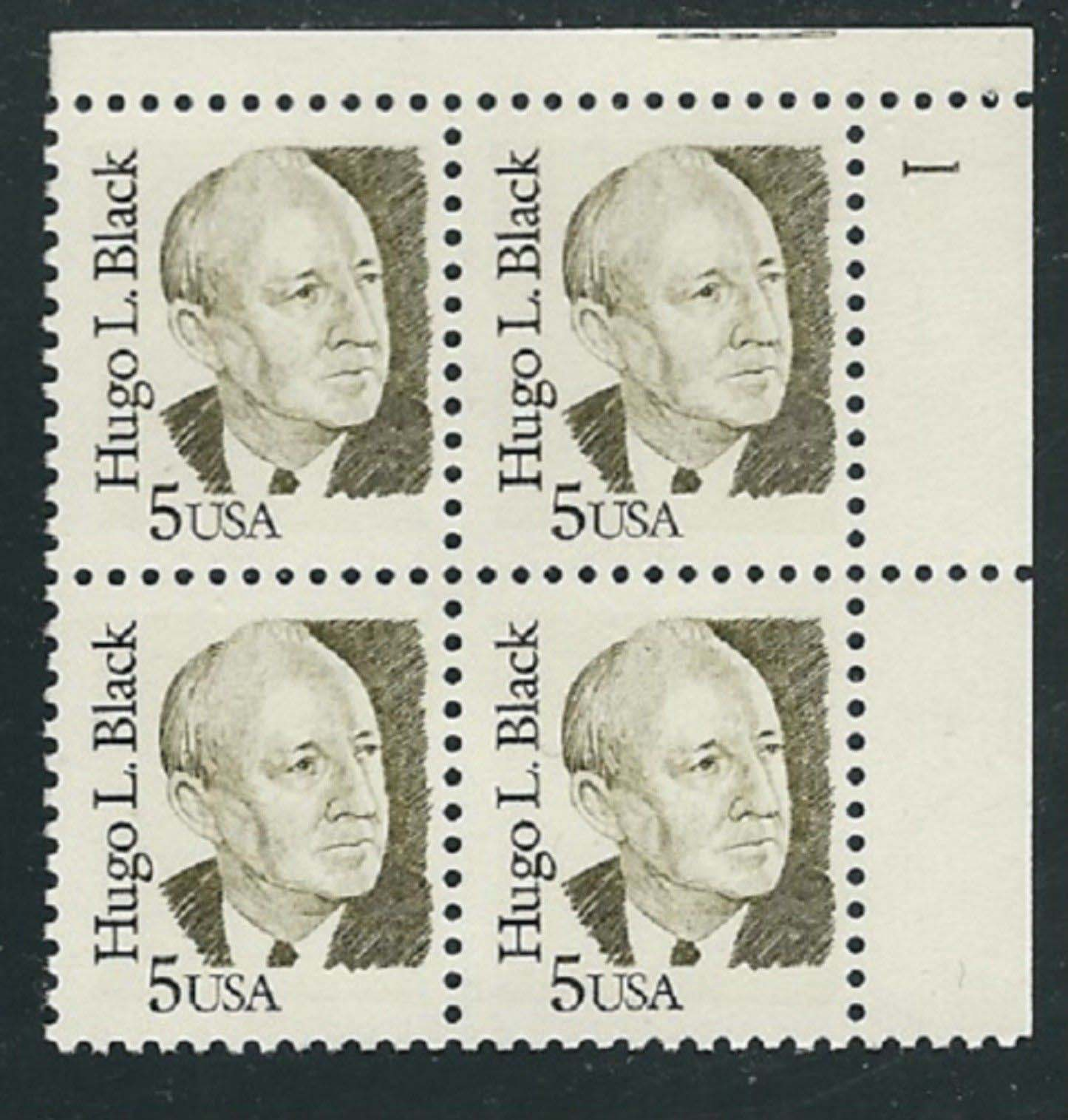 "Scott 2172 Plate Block (5 cents) <p> <a href=""/images/USA-Scott-2172-PB.jpg""><font color=green><b>View the image</a></b></font>"