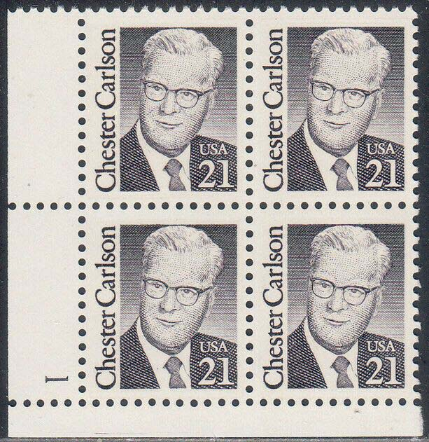 "Scott 2180 Plate Block (21 cents) <p> <a href=""/images/USA-Scott-2180-PB.jpg""><font color=green><b>View the image</a></b></font>"