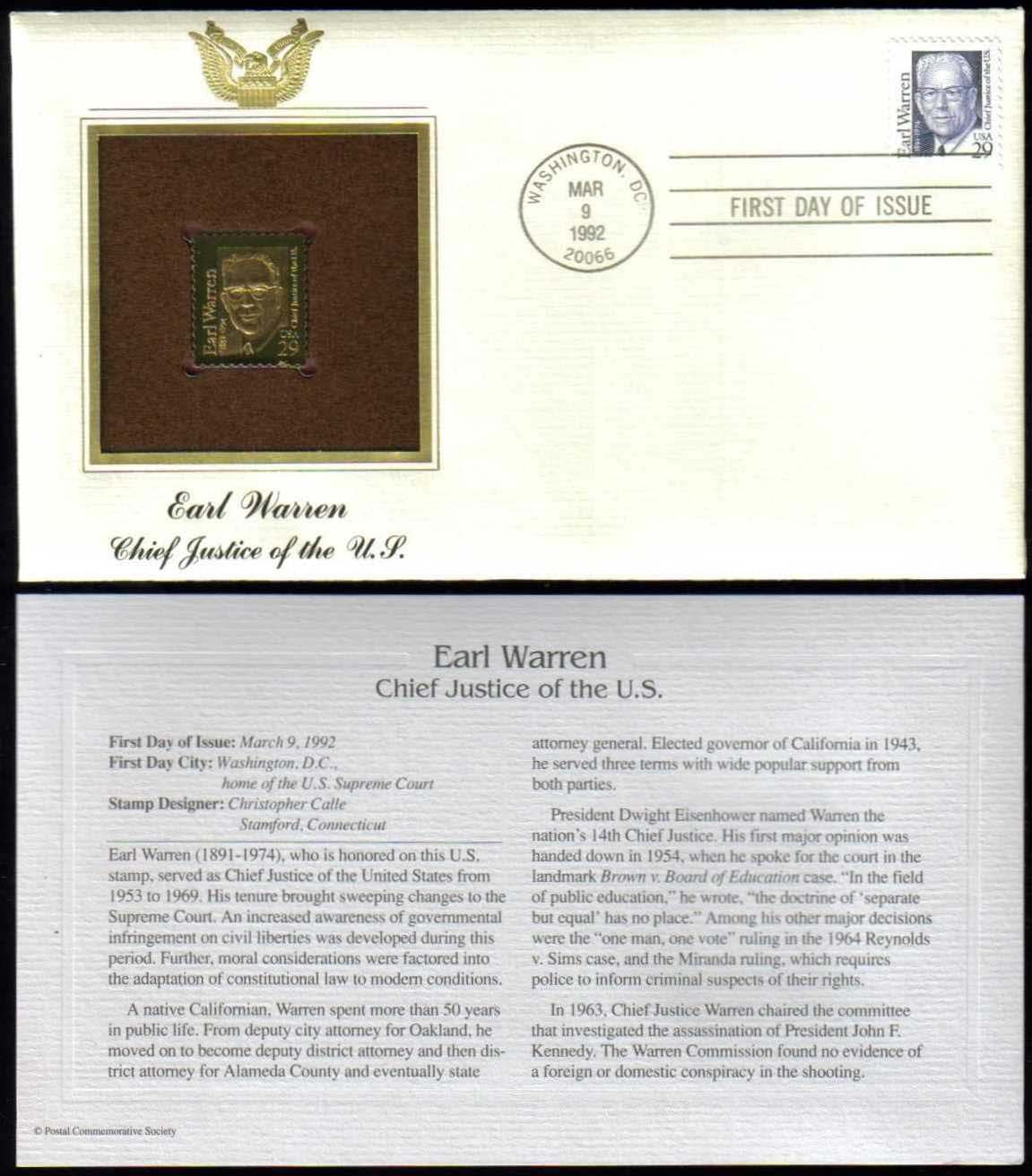 "Scott 2184 Golden Replica (22Kt) unaddressed FDC <p> <a href=""/images/USA-Scott-2184-Gold.jpg""><font color=green><b>View the image</a></b></font>"