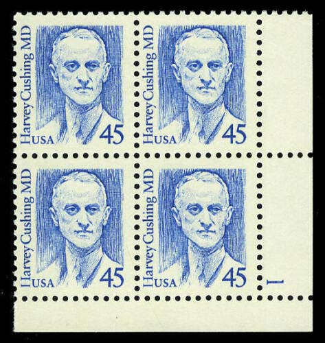 "Scott 2188 Plate Block (45 cents) <p> <a href=""/images/USA-Scott-2188-PB.jpg""><font color=green><b>View the image</a></b></font>"