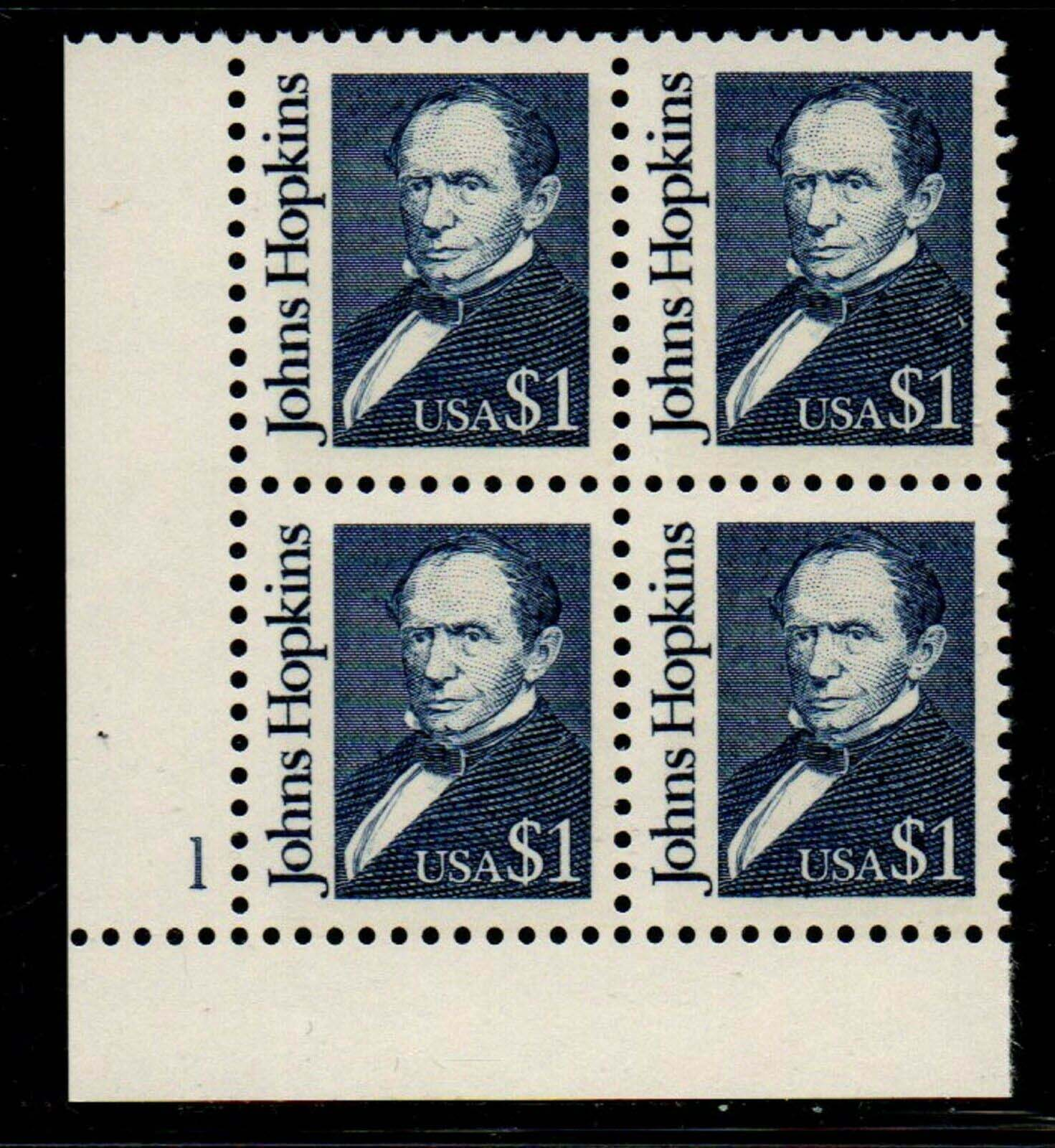 "Scott 2194 Plate Block ($ 1.00) <p> <a href=""/images/USA-Scott-2194-PB.jpg""><font color=green><b>View the image</a></b></font>"