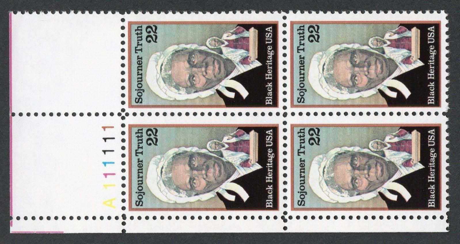 "Scott 2203 Plate Block (22 cents) <p> <a href=""/images/USA-Scott-2203-PB.jpg""><font color=green><b>View the image</a></b></font>"