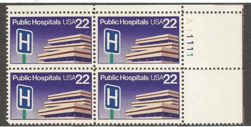 "Scott 2210 Plate Block (22 cents) <p> <a href=""/images/USA-Scott-2210-PB.jpg""><font color=green><b>View the image</a></b></font>"