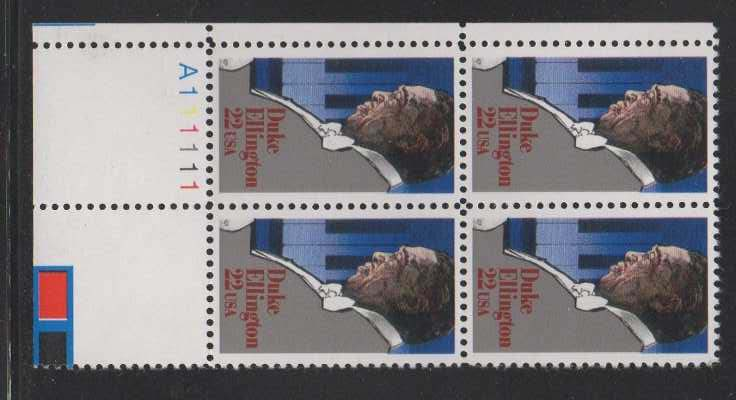"Scott 2211 Plate Block (22 cents) <p> <a href=""/images/USA-Scott-2211-PB.jpg""><font color=green><b>View the image</a></b></font>"