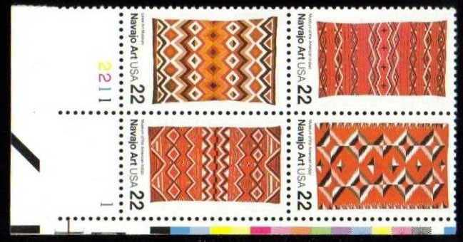 "Scott 2235-2238 Plate Block (22 cents) <p> <a href=""/images/USA-Scott-2235-2238-PB.jpg""><font color=green><b>View the image</a></b></font>"