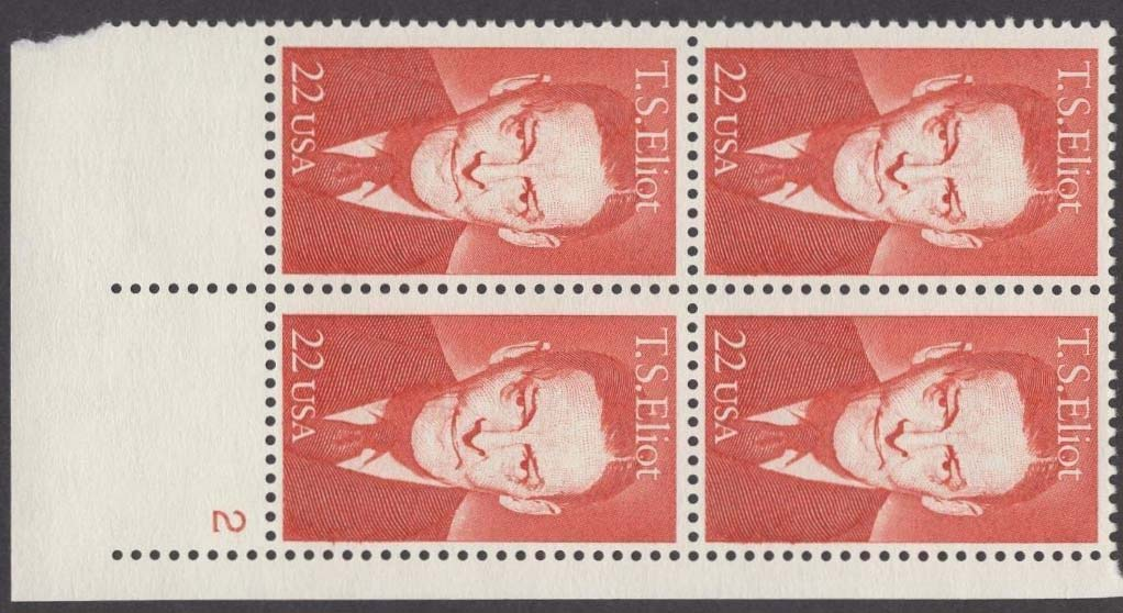 "Scott 2239 Plate Block (22 cents) <p> <a href=""/images/USA-Scott-2239-PB.jpg""><font color=green><b>View the image</a></b></font>"