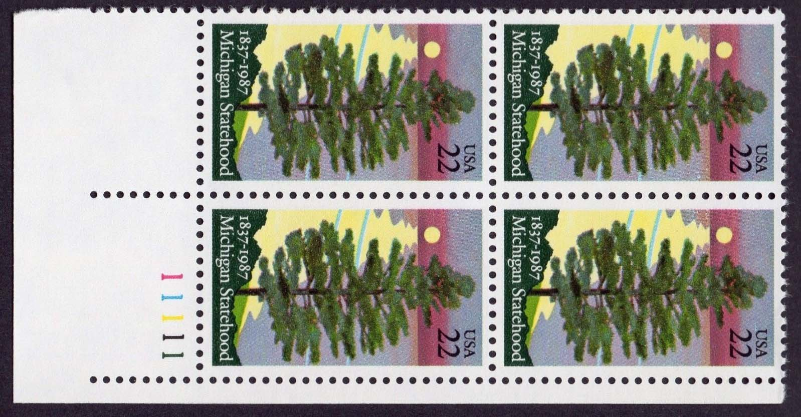 "Scott 2246 Plate Block (22 cents) <p> <a href=""/images/USA-Scott-2246-PB.jpg""><font color=green><b>View the image</a></b></font>"