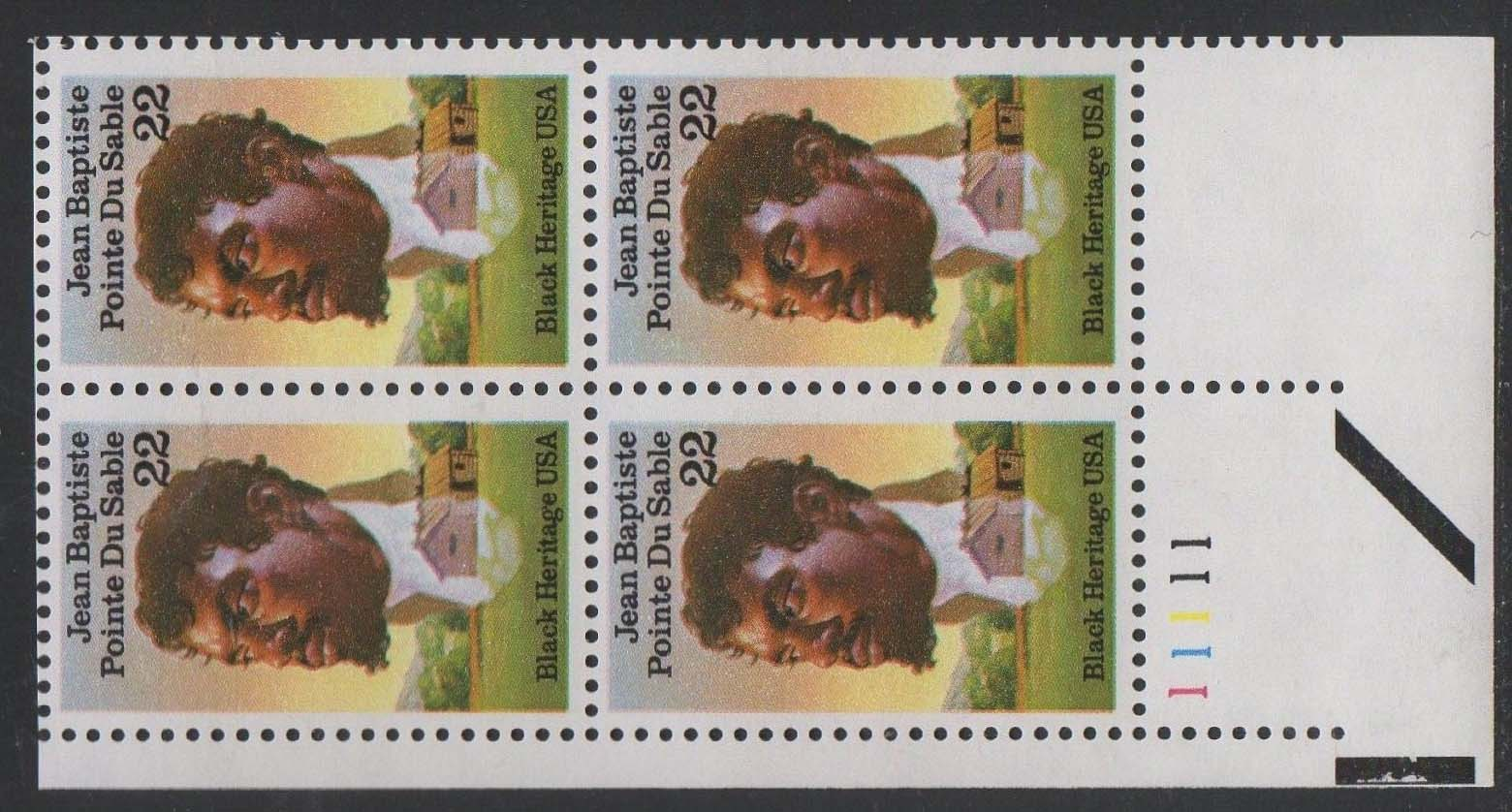 "Scott 2249 Plate Block (22 cents) <p> <a href=""/images/USA-Scott-2249-PB.jpg""><font color=green><b>View the image</a></b></font>"