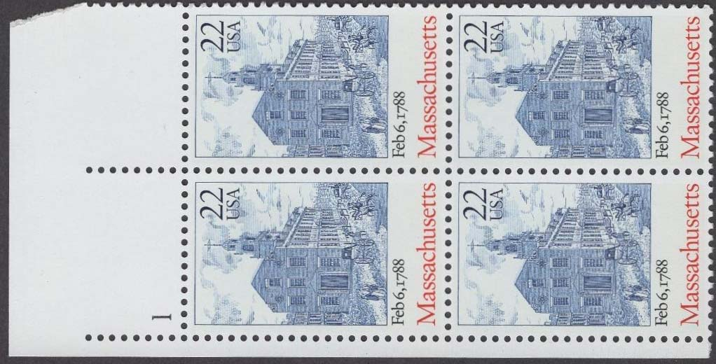 "Scott 2341 Plate Block (22 cents) <p> <a href=""/images/USA-Scott-2341-PB.jpg""><font color=green><b>View the image</a></b></font>"
