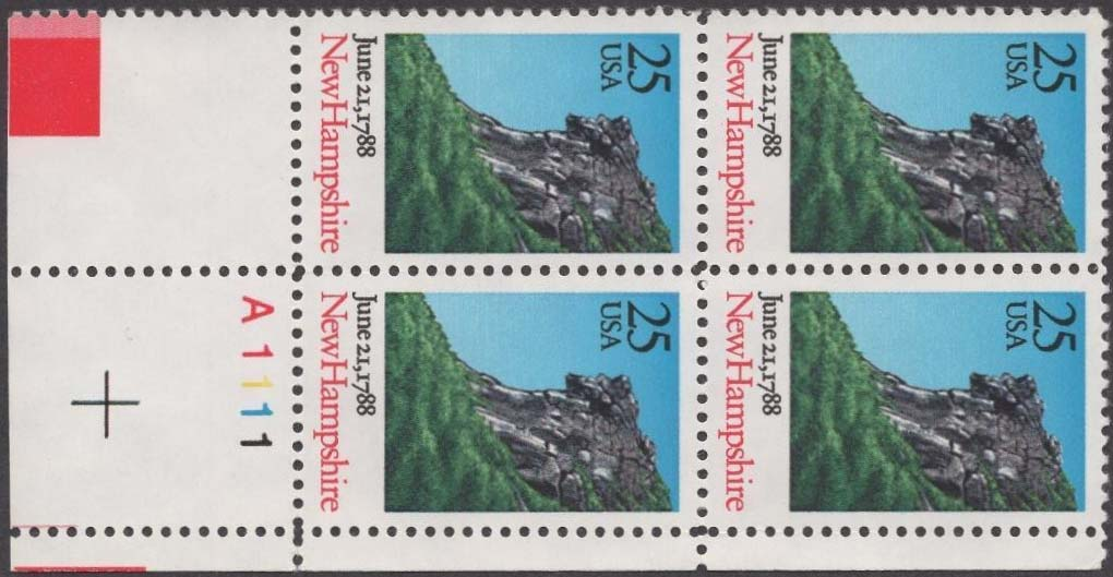 "Scott 2344 Plate Block (25 cents) <p> <a href=""/images/USA-Scott-2344-PB.jpg""><font color=green><b>View the image</a></b></font>"