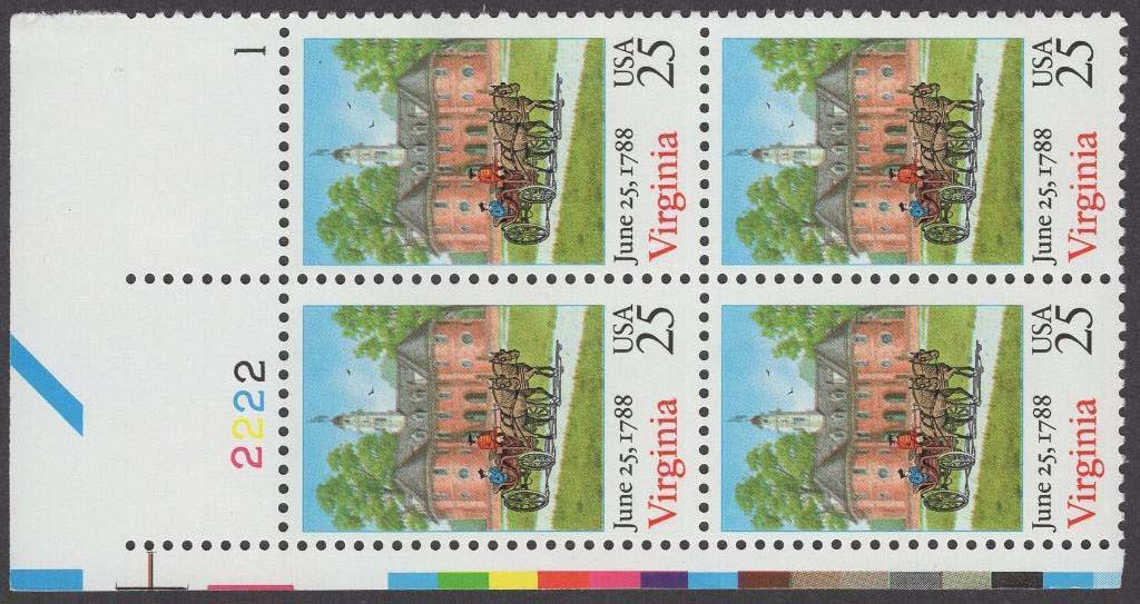 Scott 2345 Plate Block (25 cents) <p> <a href=&quot;/images/USA-Scott-2345-PB.jpg&quot;><font color=green><b>View the image</a></b></font>