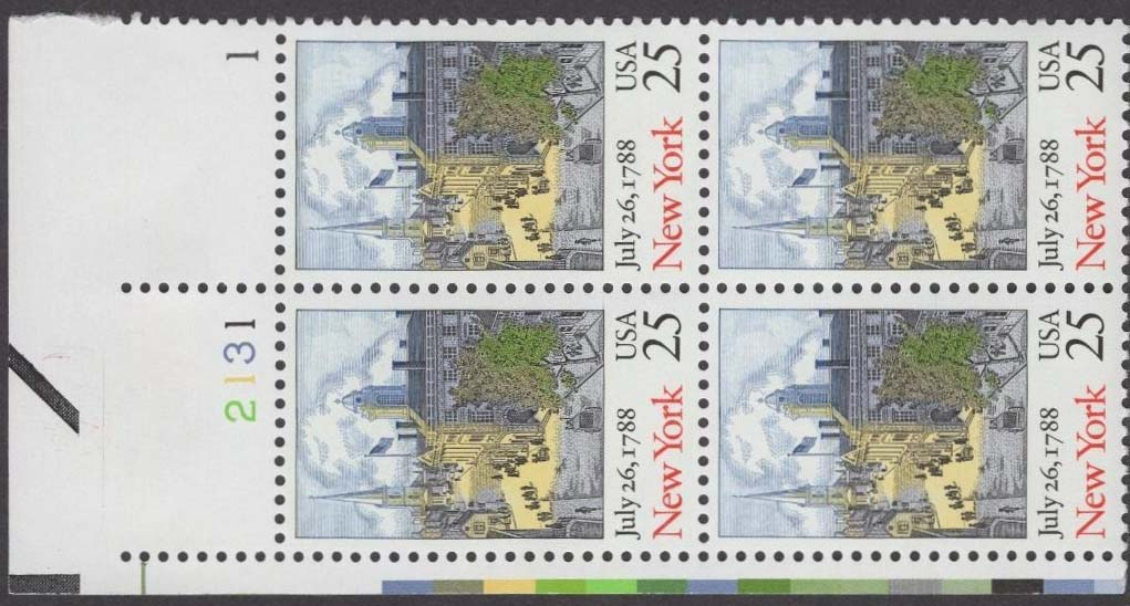 "Scott 2346 Plate Block (25 cents) <p> <a href=""/images/USA-Scott-2346-PB.jpg""><font color=green><b>View the image</a></b></font>"