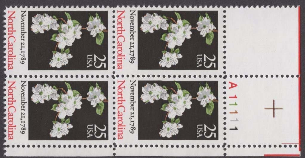 "Scott 2347 Plate Block (25 cents) <p> <a href=""/images/USA-Scott-2347-PB.jpg""><font color=green><b>View the image</a></b></font>"