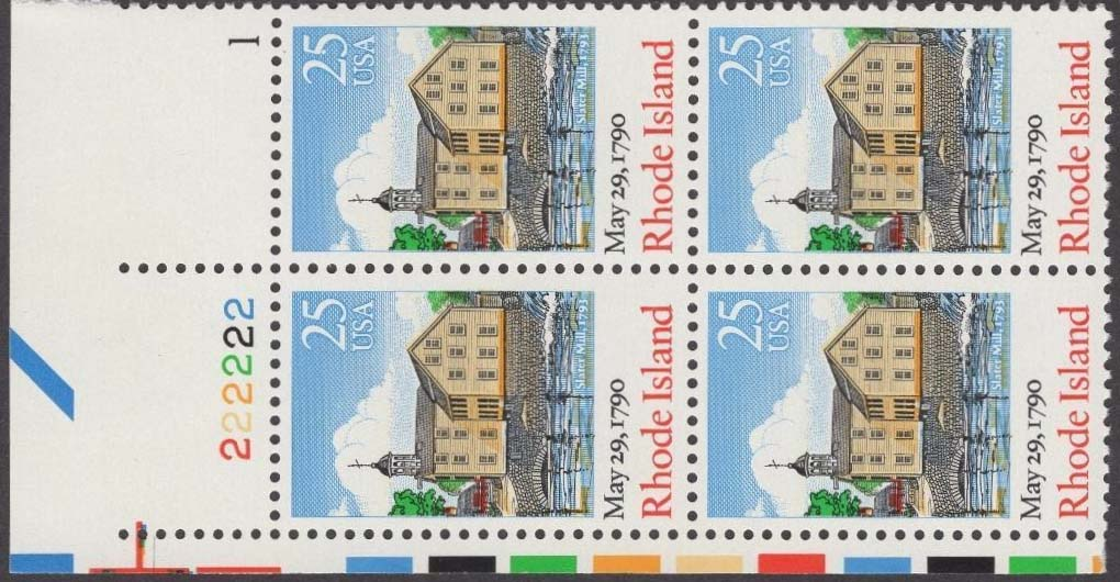 "Scott 2348 Plate Block (25 cents) <p> <a href=""/images/USA-Scott-2348-PB.jpg""><font color=green><b>View the image</a></b></font>"