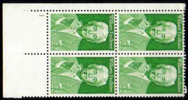 "Scott 2350 Plate Block (22 cents) <p> <a href=""/images/USA-Scott-2350-PB.jpg""><font color=green><b>View the image</a></b></font>"