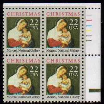 "Scott 2367 Plate Block (22 cents) <p> <a href=""/images/USA-Scott-2367-PB.jpg""><font color=green><b>View the image</a></b></font>"