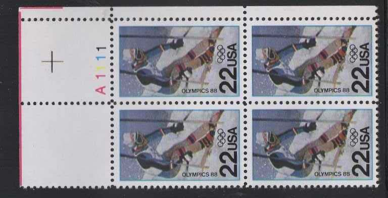 "Scott 2369 Plate Block (22 cents) <p> <a href=""/images/USA-Scott-2369-PB.jpg""><font color=green><b>View the image</a></b></font>"