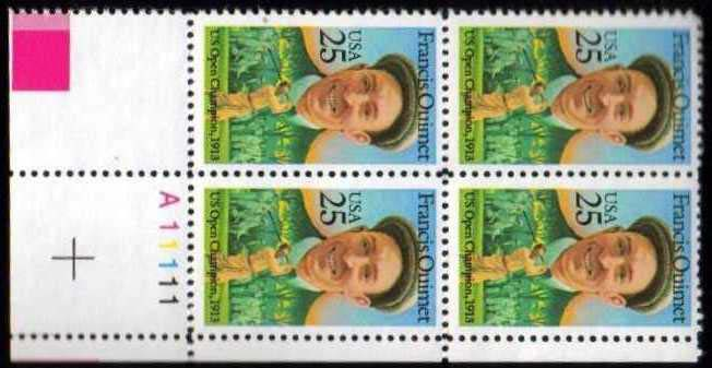 "Scott 2377 Plate Block (25 cents) <p> <a href=""/images/USA-Scott-2377-PB.jpg""><font color=green><b>View the image</a></b></font>"