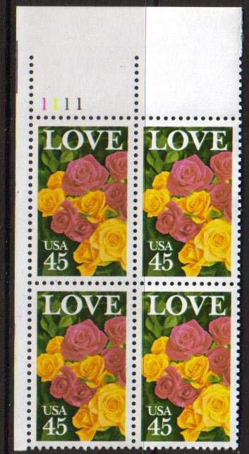"Scott 2379 Plate Block (45 cents) <p> <a href=""/images/USA-Scott-2379-PB.jpg""><font color=green><b>View the image</a></b></font>"