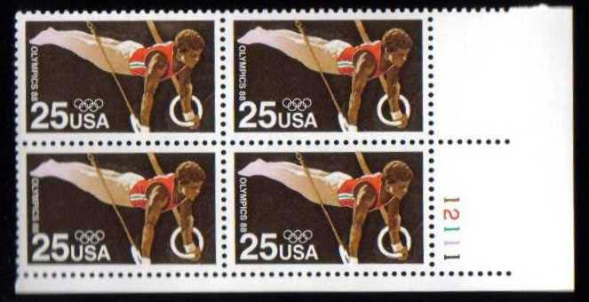"Scott 2380 Plate Block (25 cents) <p> <a href=""/images/USA-Scott-2380-PB.jpg""><font color=green><b>View the image</a></b></font>"