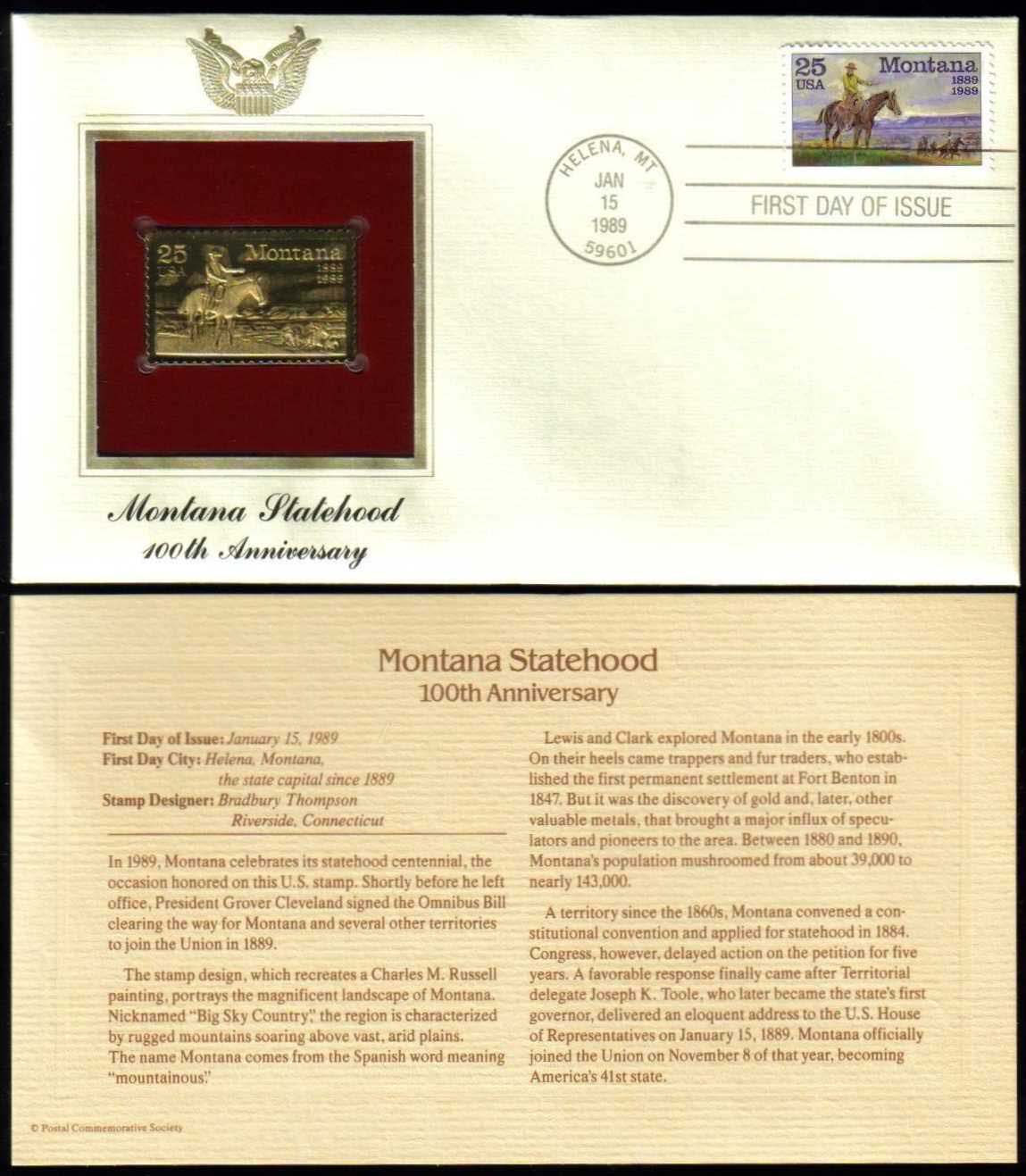"Scott 2401 Golden Replica (22Kt) unaddressed FDC <p> <a href=""/images/USA-Scott-2401-Gold.jpg""><font color=green><b>View the image</a></b></font>"