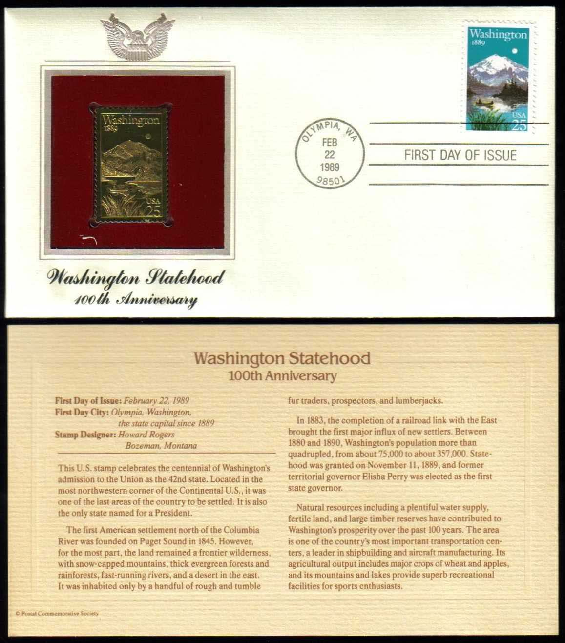 "Scott 2404 Golden Replica (22Kt) unaddressed FDC <p> <a href=""/images/USA-Scott-2404-Gold.jpg""><font color=green><b>View the image</a></b></font>"