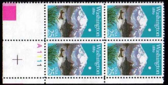 "Scott 2404 Plate Block (25 cents) <p> <a href=""/images/USA-Scott-2404-PB.jpg""><font color=green><b>View the image</a></b></font>"